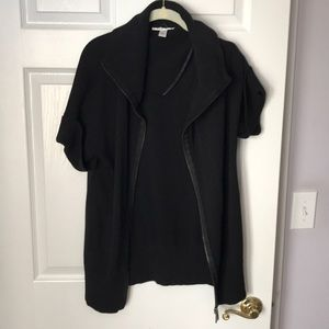 Kenneth Cole zip up short sleeve sweater